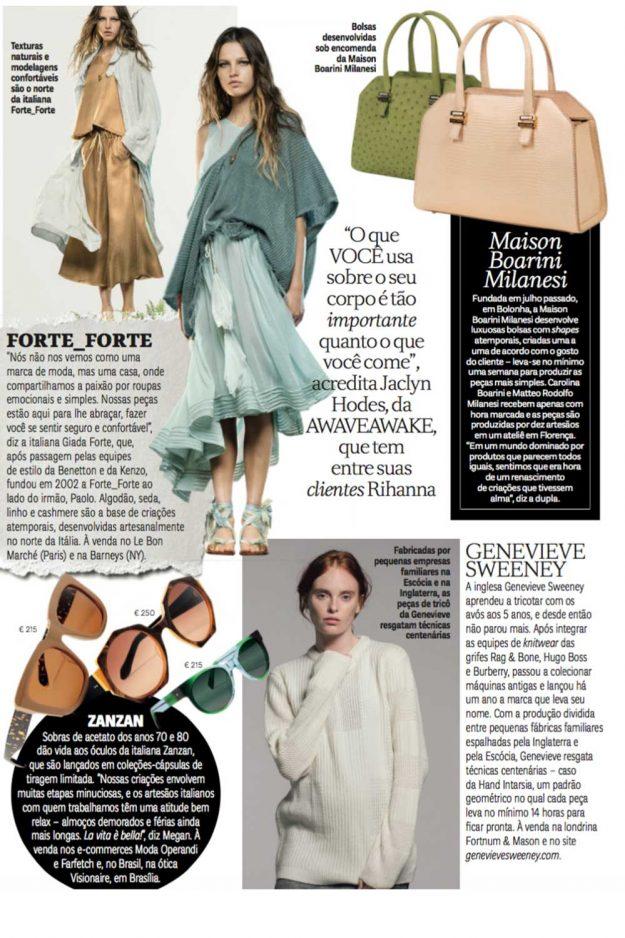 Vogue Brazil Genevieve Sweeney Knitwear