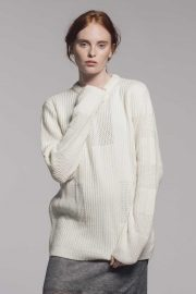 Ladies Wool Cashmere Off white jumper