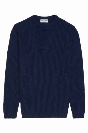 Navy Textured Unisex Sweater