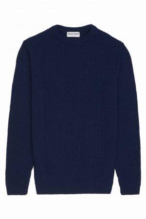 Navy Textured Unisex Sweater