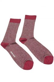 Sparkly Red Silver Cotton Socks