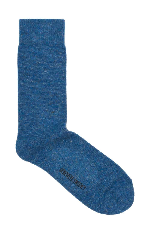 Blue Wool socks made in Britain