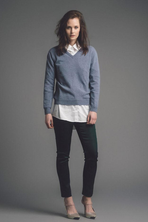 modern essentials v neck sweater