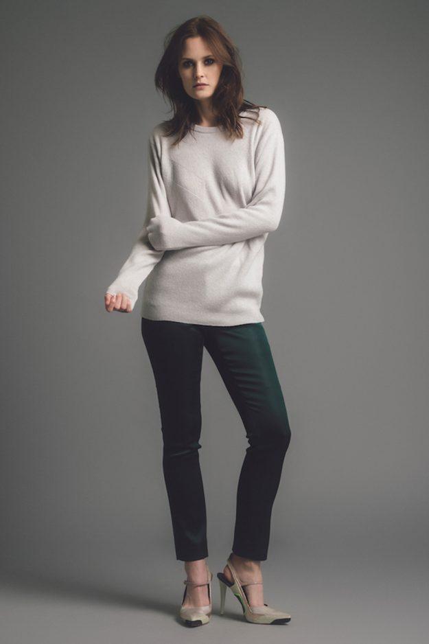 womens light grey merino sweater