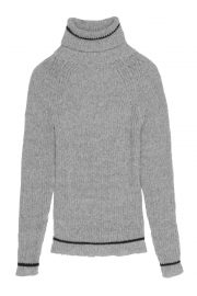 wool roll neck grey jumper