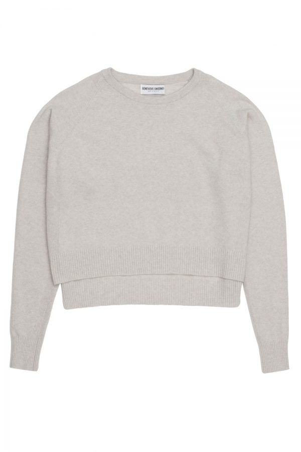 Grey Merino Cashmere Sweater made in Britain