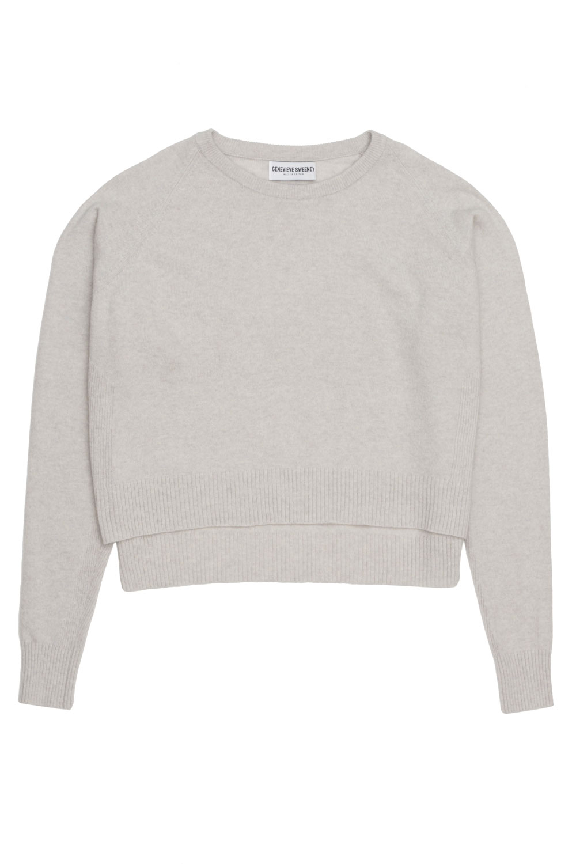 Grey Merino Cashmere Sweater made in Britain