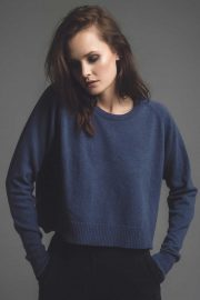 Slouch merino cashmere ladies sweater