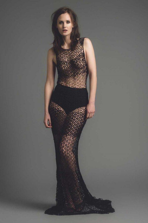 Bespoke Lace Black Dress