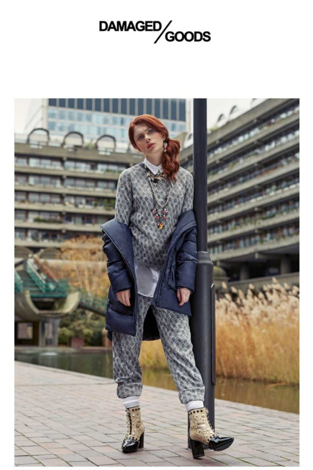 Knitted two piece loungewear made in britain