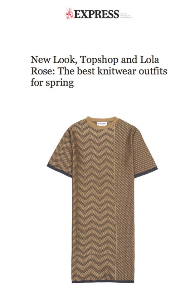 Gold Stripe Dress Summer Spring