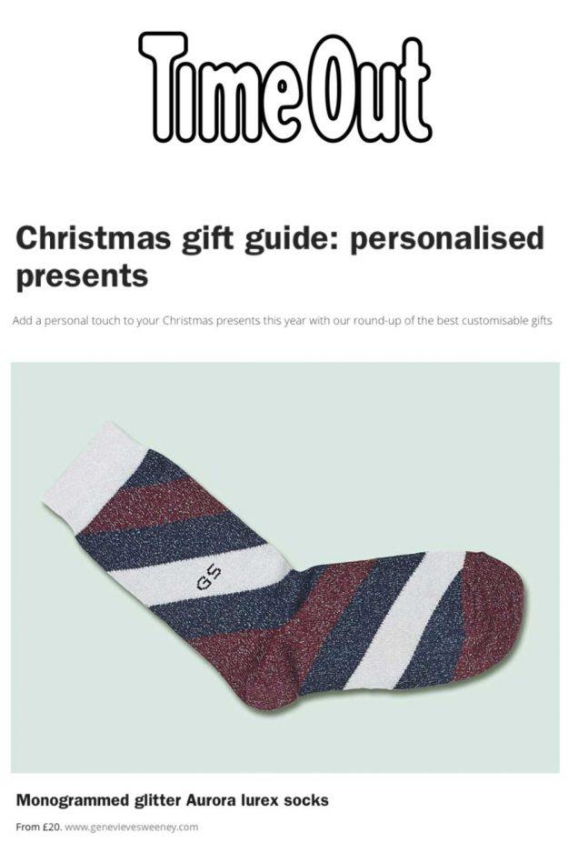 Christmas Guide Gift Personalised Socks