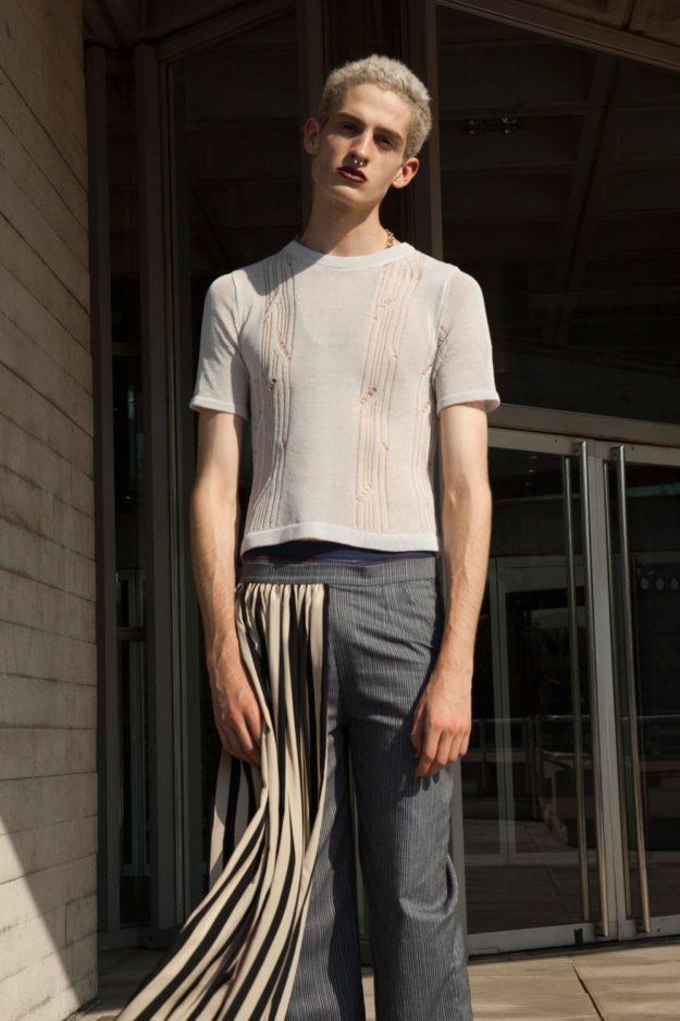 Knitted Summer Tshirt SS17 Genevieve Sweeney