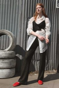 BLACK KNITTED LUXURY TROUSERS