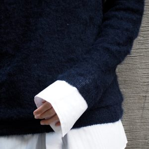 British Knitwear Mohair Sleeve Detail