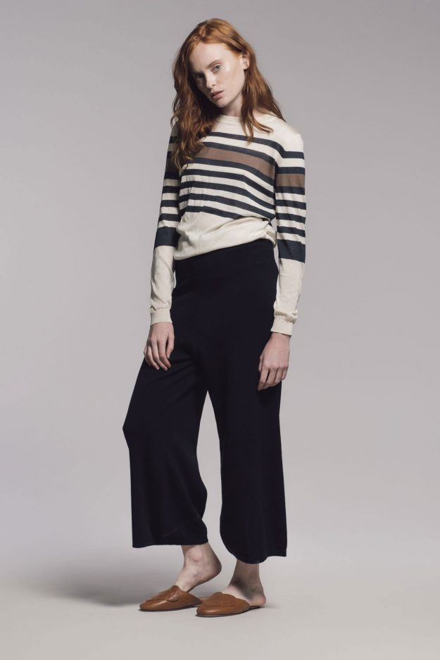 Silk Stripe Resort Jumper Made in Britain