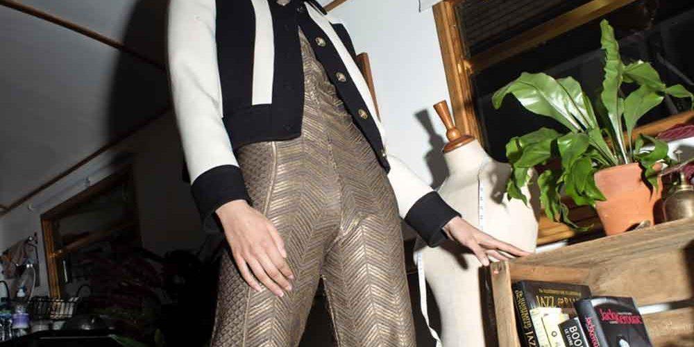 Gold Jumpsuit Partywear