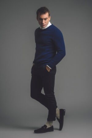 Mens Lambswool Staple Jumper