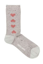 Geometric Heart Cotton Socks