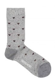 sparkly heart polka dot socks