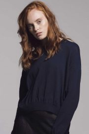Navy Slouch lightweight sweater