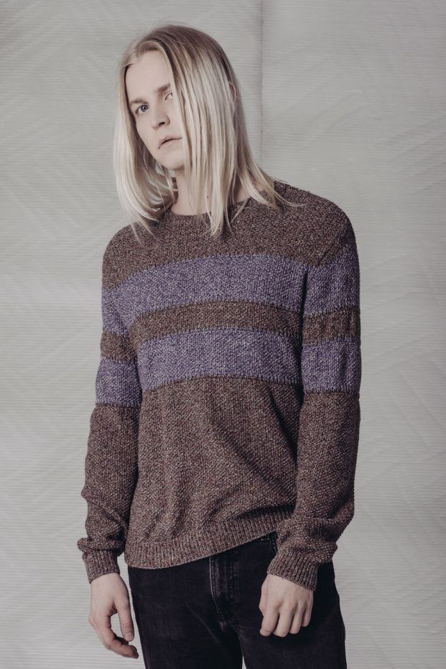 mens cotton moss stitch jumper