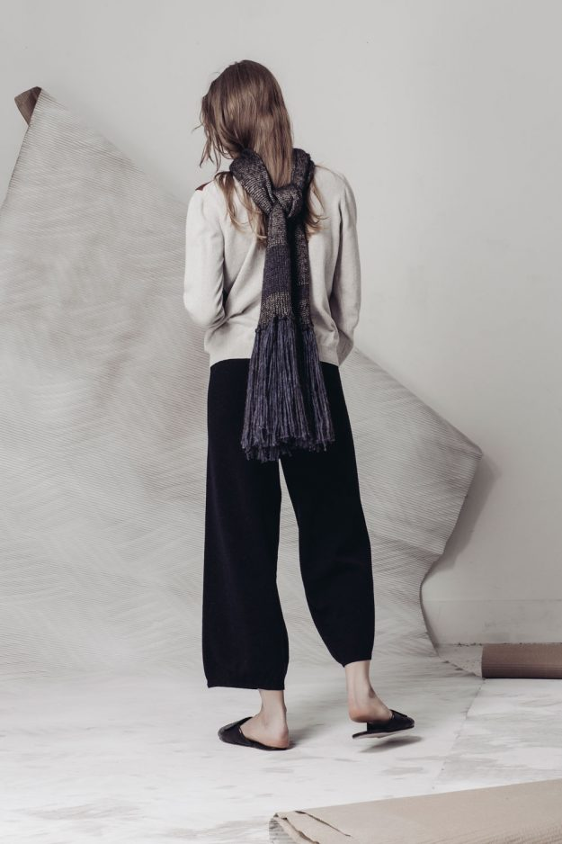 luxury alpaca scarf made in britain