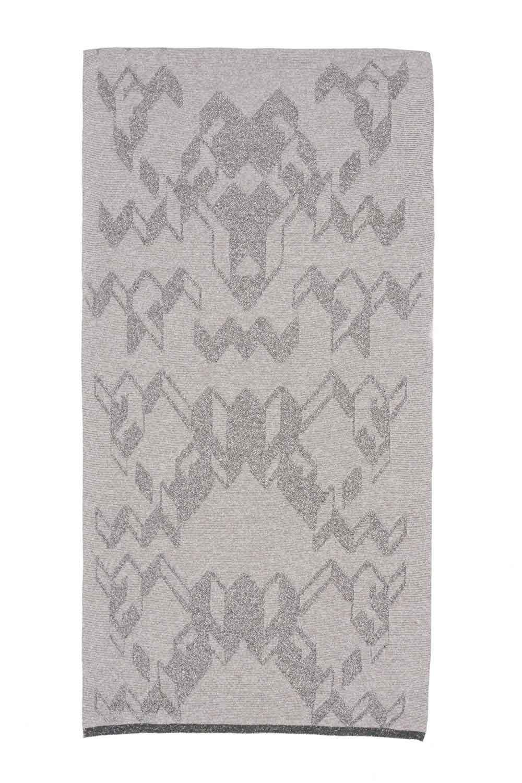 jacquard metallic scarf merino cashmere