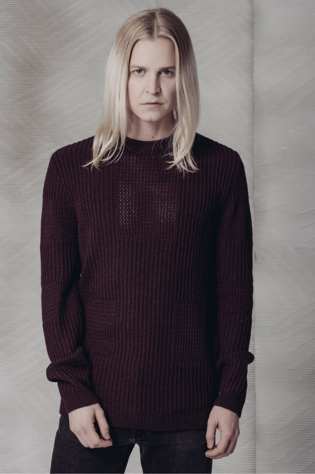 wool cashmere mens jumper made in britain