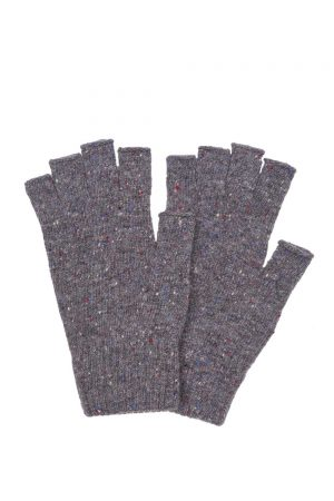 Fingerless Tweed Gloves