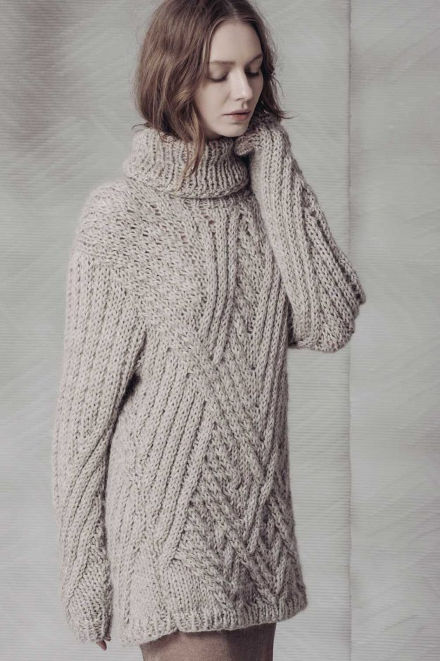 Hand Knitted oversized jumper made in britain