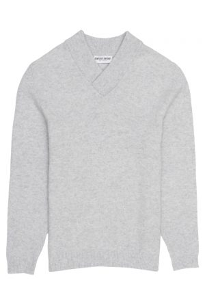 merino cashmere mens shawl neck jumper