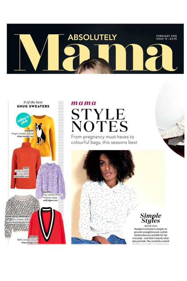 Absolutely Mama Magazine Style notes