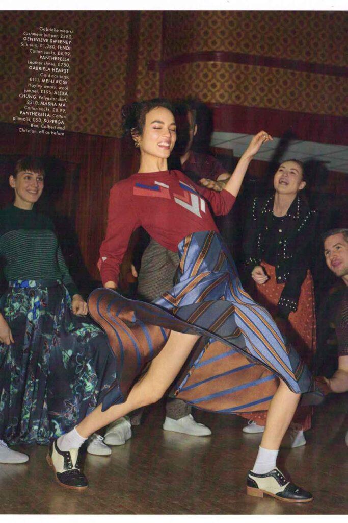Elle UK Magazine Fashion Editional Cashmere Jumper