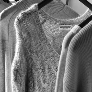 Hand knitted cable jumper made in Britain