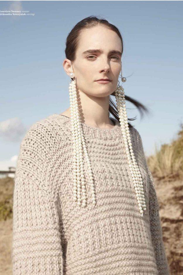 Fashion Editorial Chunky Hand Knit Jumper