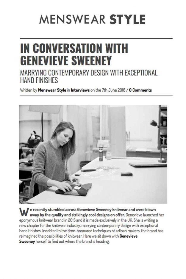 Menswear Style Blog Interview Knitwear Designer