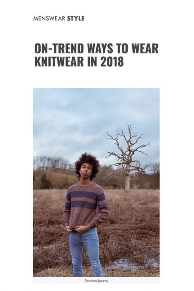 cotton mens striped jumper