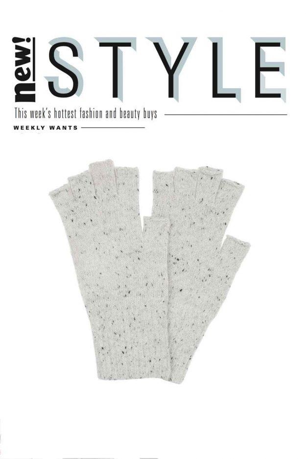 Wool Tweed Fingerless Gloves made in Britain