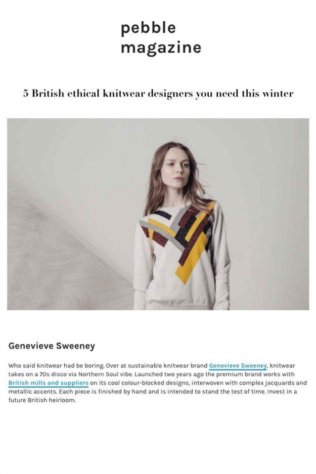 Ethical British Knitwear Designer
