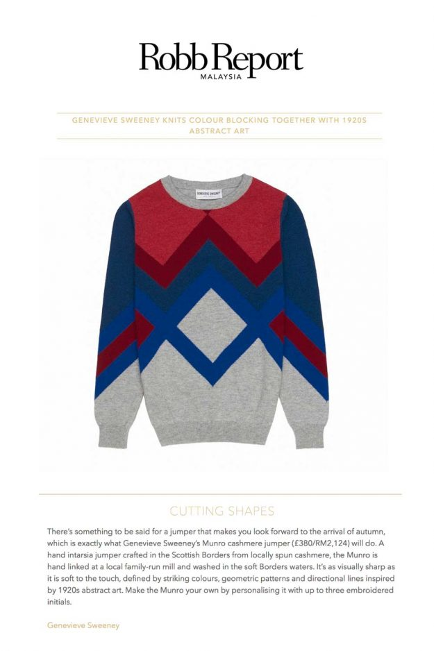 Cashmere Geometric Colourblock jumper
