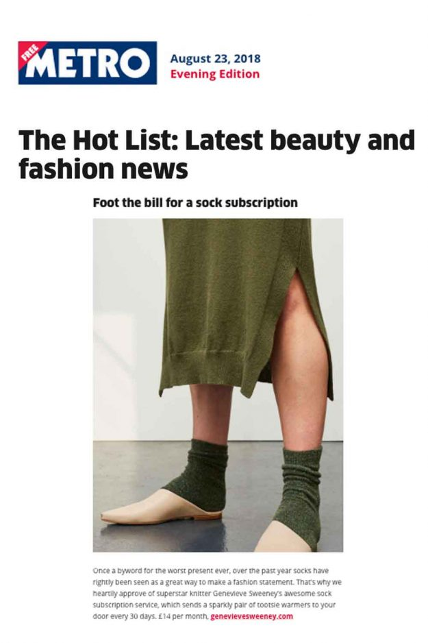 The Metro Hot List Sock Subscription