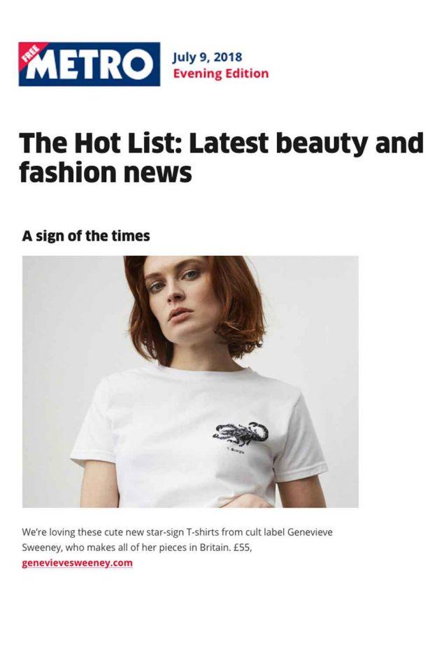 The Metro Hot List Zodiac Tshirt