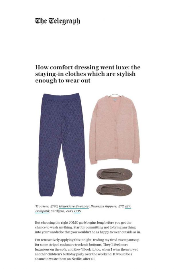 luxe lounging wool cashmere trousers