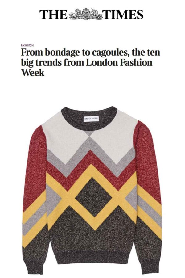 Hand Intarsia Metallic Jumper The Times Magazine