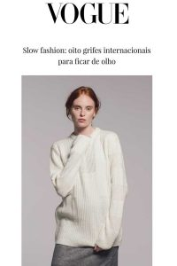 Vogue Brazil White Cashmere Jumper