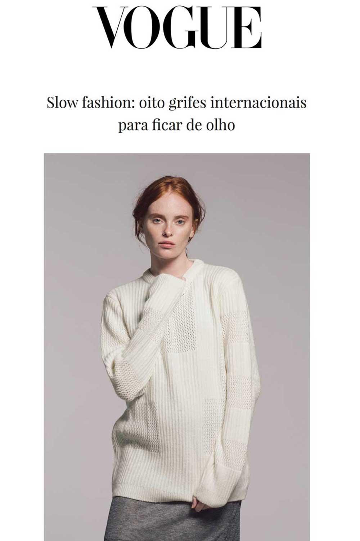 Vogue Brazil White Cashmere Jumper