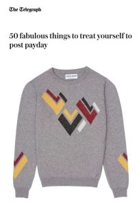 Telegraph Fashion 50 best Hand Intarsia metallic sweater