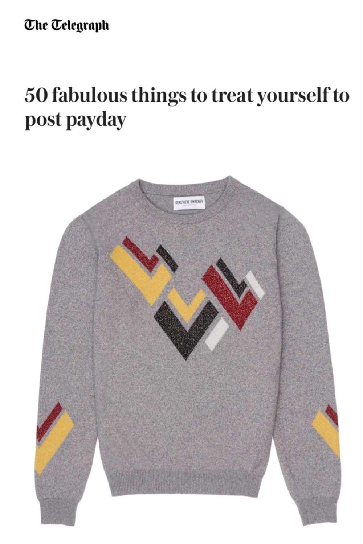 Telegraph Fashion 50 best Hand Intarsia metallic sweater