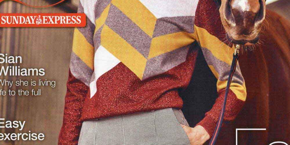 Metallic Geometric intarsia jumper
